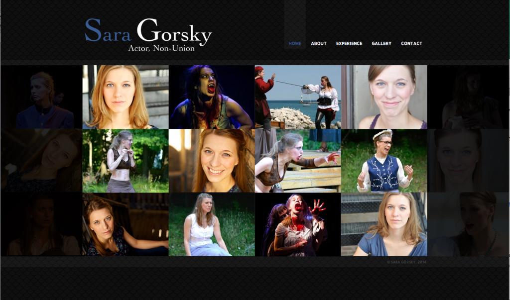Sara's Actor Website