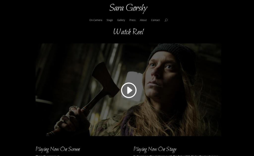 Sara's NEW Actor Website