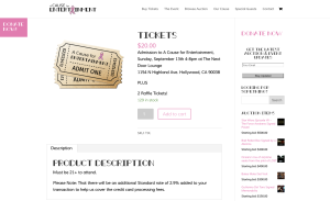 Buy Tickets Page