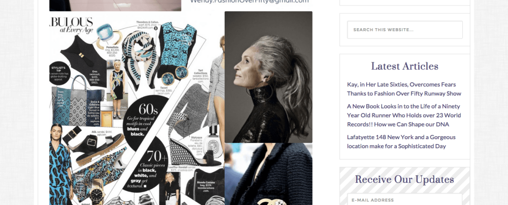 Fashion Over Fifty – A Fashionable Blog Upgrade