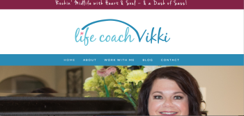 Life Coach Vikki – A Website For A Burgeoning New Business