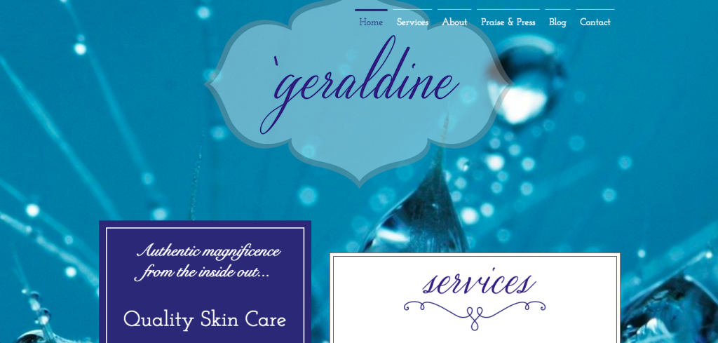 'geraldine inspires – A Website for Beauty Care