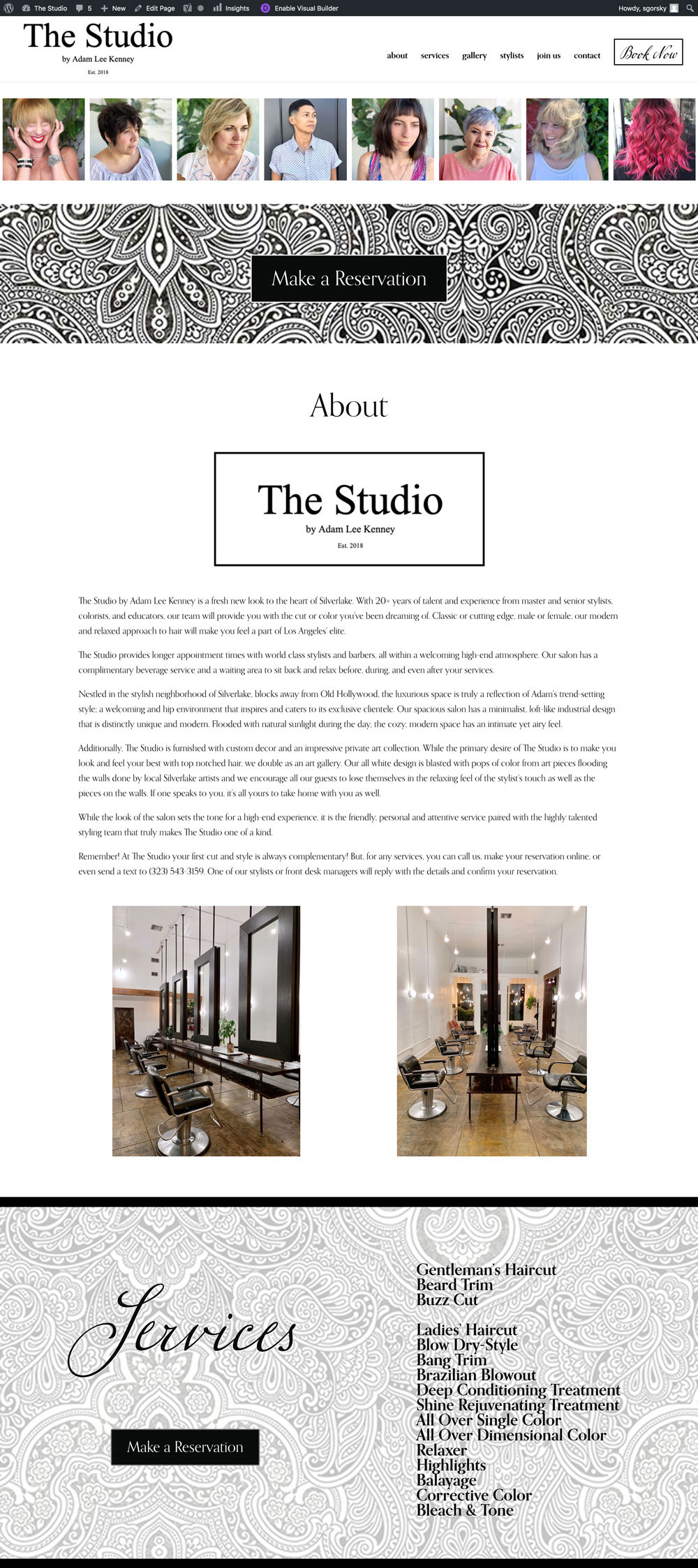 The Studio – Hair Salon